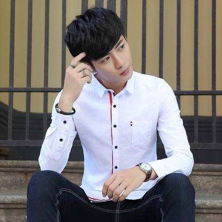 华度威 衬衫男2016秋新款 长袖衬衫男 男士商务衬衫 长袖SLS18011