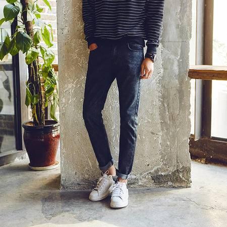 华度威牛仔裤男修身直筒2016秋冬季男士牛仔裤男休闲长裤韩版小脚裤子MG002