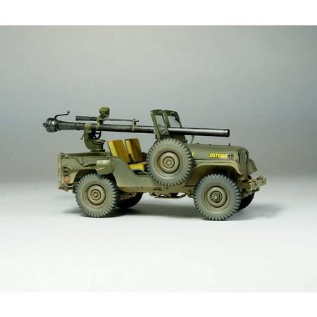 【指文模型】M38A1C吉普无后座力炮型(免费定制铭牌文字内容)