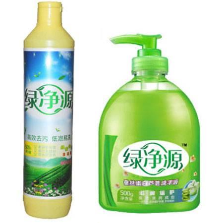 绿净源绿茶芳香去味洗洁精500g洗碗剂包邮蚕丝蛋白芦荟保湿洗手液美白500g瓶装瓶装按压