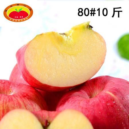 【沮水桥山红】洛川苹果水果新鲜 80#10斤红富士比山东烟台栖霞