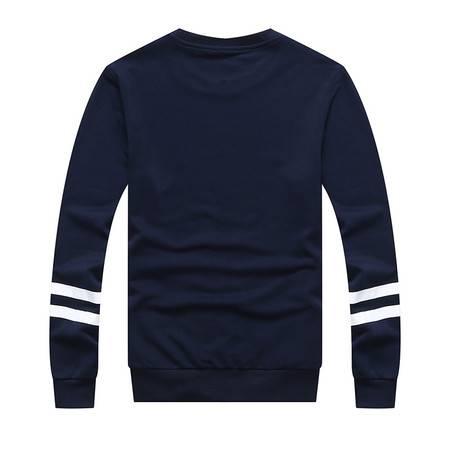CCZO 新款长袖T恤男 韩版青年潮流印花秋衣 男士圆领打底衫男装