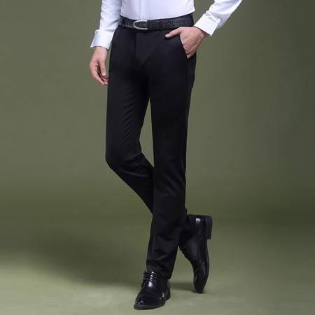 CCZO 秋季新款商务休闲小脚裤男士弹力修身长裤男装青年免烫抗皱西裤子
