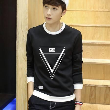 CCZO 秋季卫衣男士圆领套头韩版青少年学生长袖打底衫潮卡通印花外套男