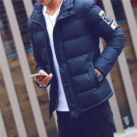 GEEDO 冬季棉衣男青年韩版男装潮流冬天加厚棉袄短款连帽修身棉服外套男