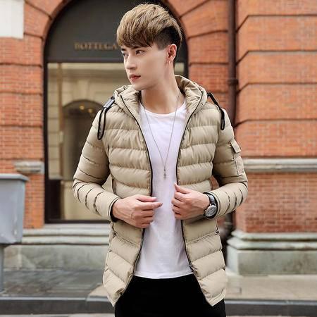 GEEDO 加厚棉衣男青年中长款韩版棉袄冬装衣服外套冬季2016新款潮流外衣