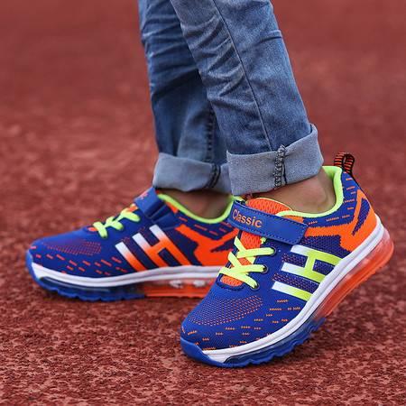 凯王帝 男童鞋秋冬季网面透气中大童儿童跑步鞋学生减震气垫鞋运动鞋