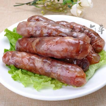 五谷六草巴马香猪广式香肠 纯手工腊肠 风干肠  不含食品添加剂