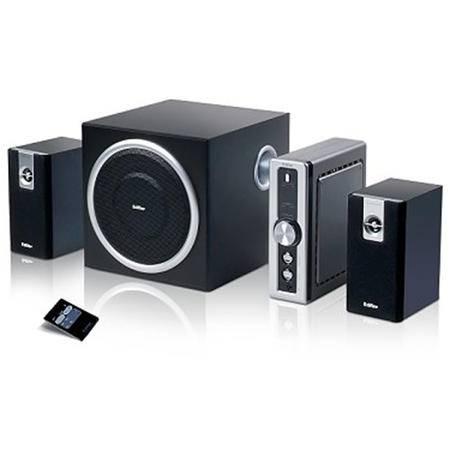 Edifier/漫步者 C2 多媒体2.1声道有源电脑音箱 木质低音炮音响