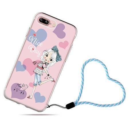 I控 苹果7手机壳iphone7plus硅胶保护套5.5超薄磨砂硬壳新款女潮昕甜