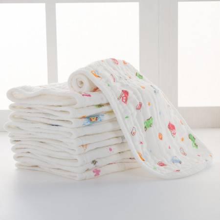 BOBO 纯棉可洗小孩纱布尿布婴儿用品宝宝透气尿片12层5条装(2包)
