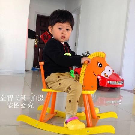 宝宝摇椅马木质 婴儿摇摇木马大号加厚儿童玩具周岁礼物小木马车