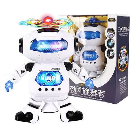智慧鱼智能旋转唱歌跳舞太空机器人灯光炫酷男女孩儿童电动玩具1-3-6岁