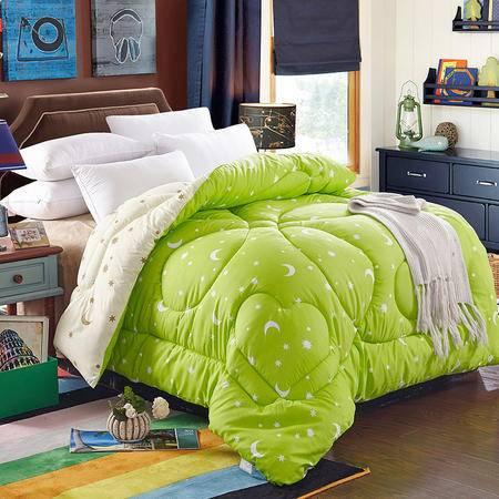 爱丽奢  印花磨毛仿棉冬被子 保暖冬被单人学生家庭用被芯 200x230/7斤