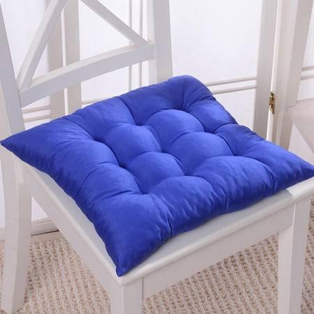 爱丽奢 纯色九宫格加厚坐垫 椅垫办公室椅子电脑椅座垫餐椅垫学生凳子座椅垫屁股垫子40×40cm