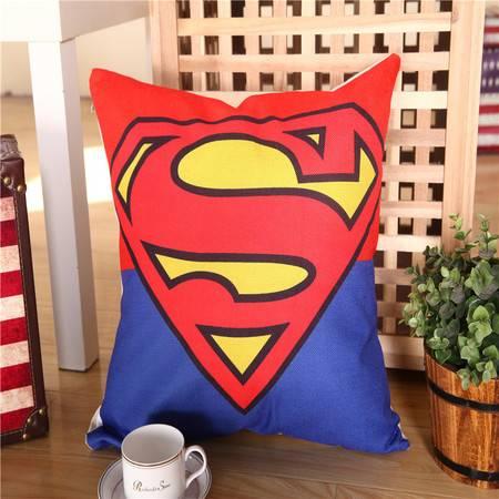 爱丽奢 时尚卡通棉麻抱枕办公室沙发床头抱枕 腰枕靠垫 含芯50*50cm