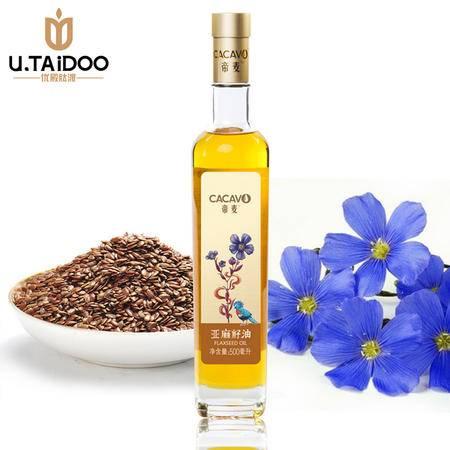 帝麦亚麻籽油冷初榨食用油非转基因有机植物油月子油胡麻油500ml