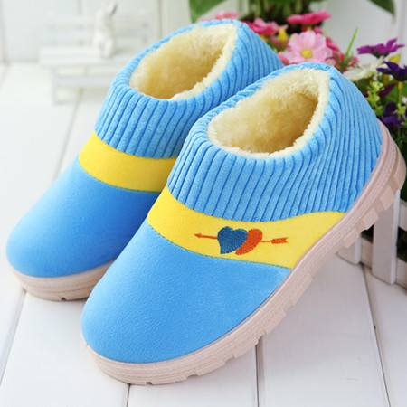 款款秀 冬季情侣男女靴低帮平跟短筒靴子防滑加厚保暖家居家包跟拖鞋棉鞋