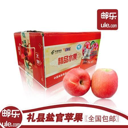 农家自产 甘肃陇南盐官苹果红富士 约10斤(包邮)