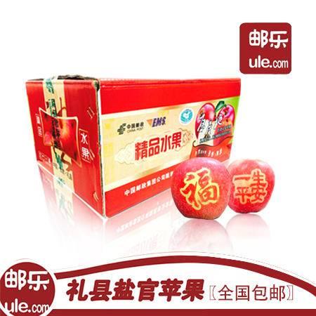 农家自产 甘肃陇南盐官苹果精品红富士24枚装 约16斤(包邮)