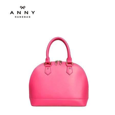 ANNY 新款牛皮贝壳女包中号复古手提包