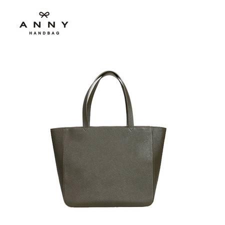 ANNY 牛皮斜跨手提包简约时尚欧美潮流