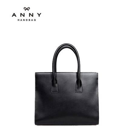 ANNY 20016新品女士牛皮欧美潮流手提袋单肩斜跨包