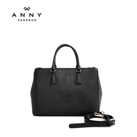ANNY 2016牛皮手提斜跨单肩真皮女包欧美简约时尚