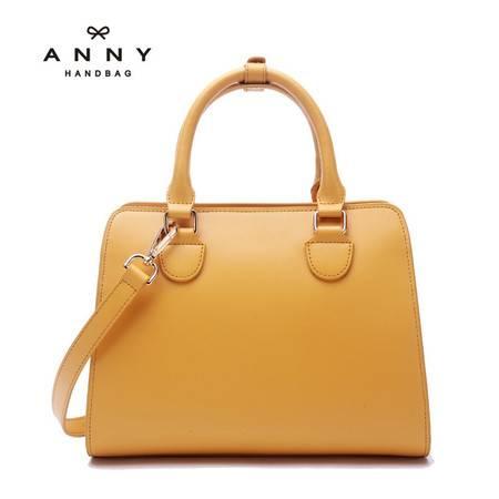 ANNY 2016新品真皮马卡龙色手提包斜跨牛皮小包