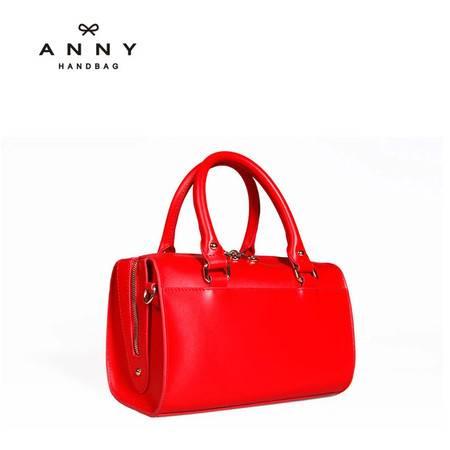 ANNY 2016新品牛皮斜跨单肩牛皮包  女士时尚迷你手提包