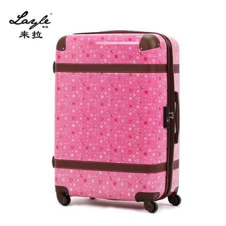 来拉/layle  时尚印花abs拉杆箱 pc行李箱旅行箱万向轮女20寸
