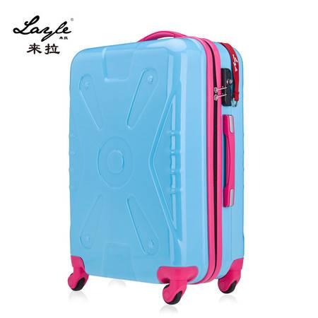 来拉/layle 万向轮ABSPC纯色拉杆箱行李箱机箱箱包密码女19寸旅行箱