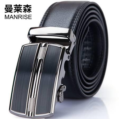 曼莱森/MANRISE 皮带男士真皮青年自动扣学生牛皮腰带裤腰带中年宽商务软