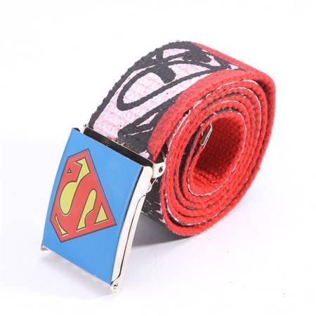 曼莱森/MANRISE SuperMan超人男士加厚帆布腰带男式女式休闲皮带裤带