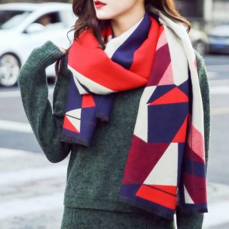 曼莱森/MANRISE 2016秋冬新款欧美双面围巾两用 女士保暖仿羊绒围巾披肩超大加厚