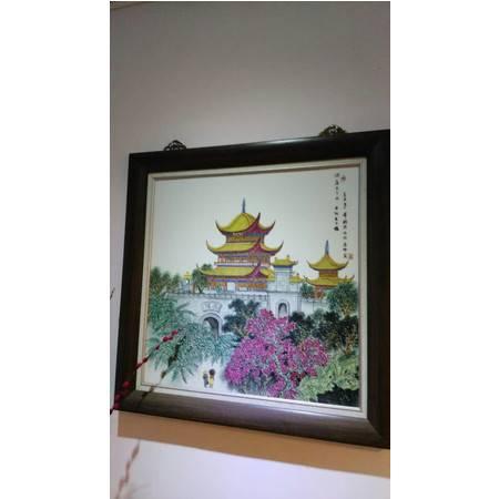 岳州窑 岳阳楼瓷画 饰品