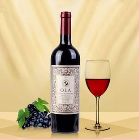 欧啦 法国欧拉红酒 家族超级波尔多AOC干红葡萄酒
