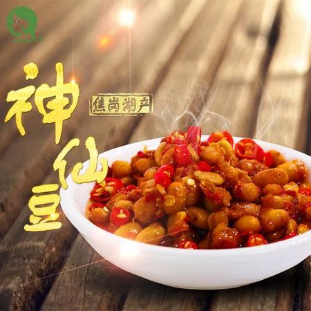 曹集 安徽淮南特产 正宗神仙豆 酱豆子 特色渔家风味 礼盒 200克*6瓶