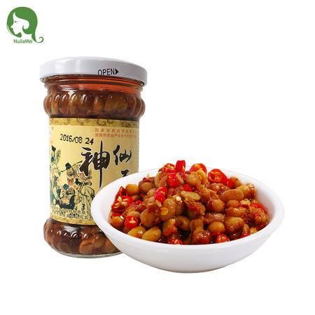 曹集 安徽淮南特产 正宗神仙豆 酱豆子 特色渔家风味  200克/单瓶