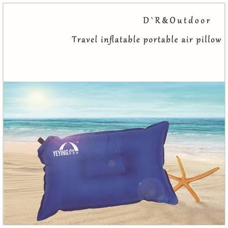 野营家 自动充气枕头户外旅行枕便携吹气睡枕舒适午休睡枕坐车神器