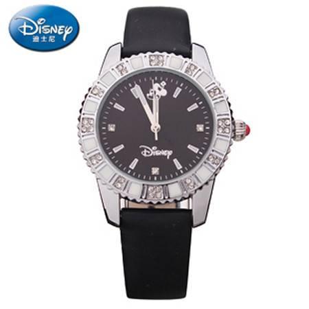 迪士尼/DISNEY米奇真皮镶钻复古儿童 成人手表  10395