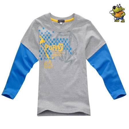 PUFFY PUPPY 帕菲帕贝男童棉质印花长袖T恤 PCXZ01P31