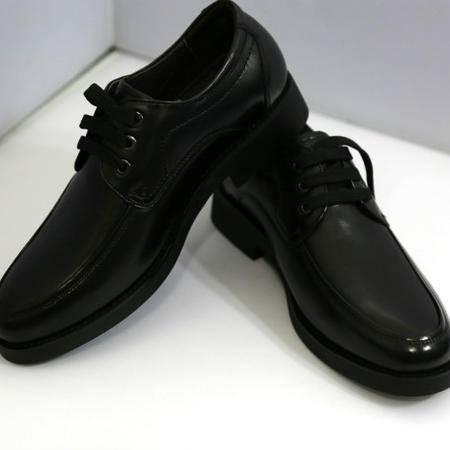 巡洋舰 8776  黑牛皮男鞋
