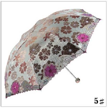 天堂伞专卖防紫外线防晒伞遮阳伞超轻折叠伞女刺绣高档拎包香味伞
