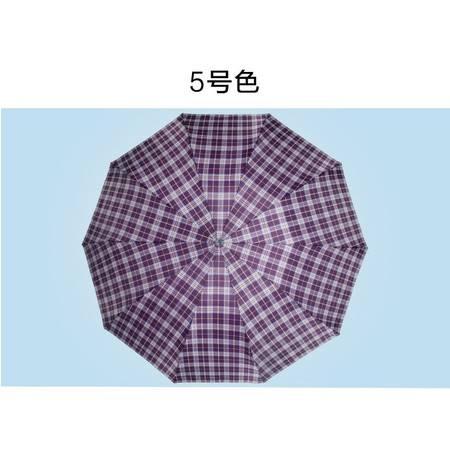 天堂伞正品商务英伦风晴雨伞加大创意折叠雨伞钢杆钢骨男士双人伞