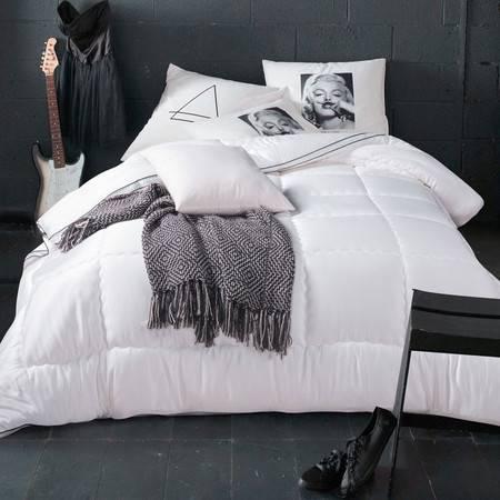 采馨家纺 床上用品纯色被子被芯春秋被单双人加厚保暖磨毛冬被