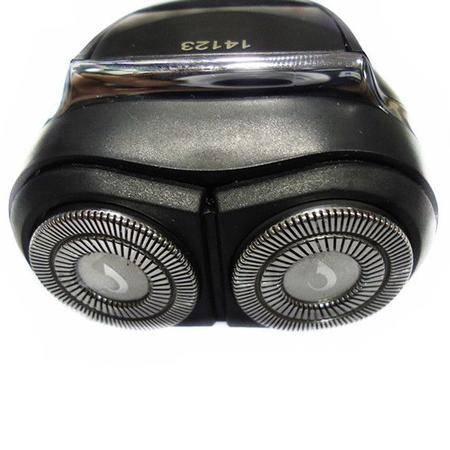 奔腾剃须刀 PQ3906 两刀头、8小时充电、全身水洗、鬓角刀、黑+电镀