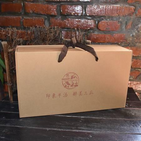 三瓜公社 年货鱼干礼盒大礼包700g 新鲜水产银鱼/凤尾鱼/白丝鱼