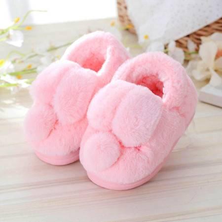 艾米娅 小孩子男童女童鞋宝宝包跟棉拖鞋儿童棉鞋亲子防滑保暖棉鞋秋冬季