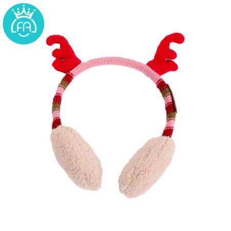 艾米娅 韩国2016新款儿童耳罩冬季保暖女童可爱护耳罩宝宝圣诞耳套韩版潮